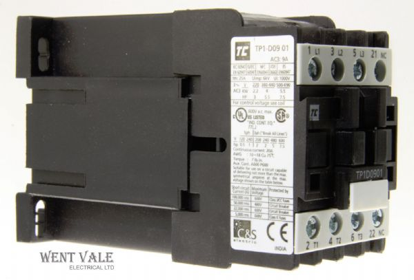 Robusta - TPID0910 - 9a 4kW 415v AC3 - 3 Pole Contactor With 24vdc Coil NIB.